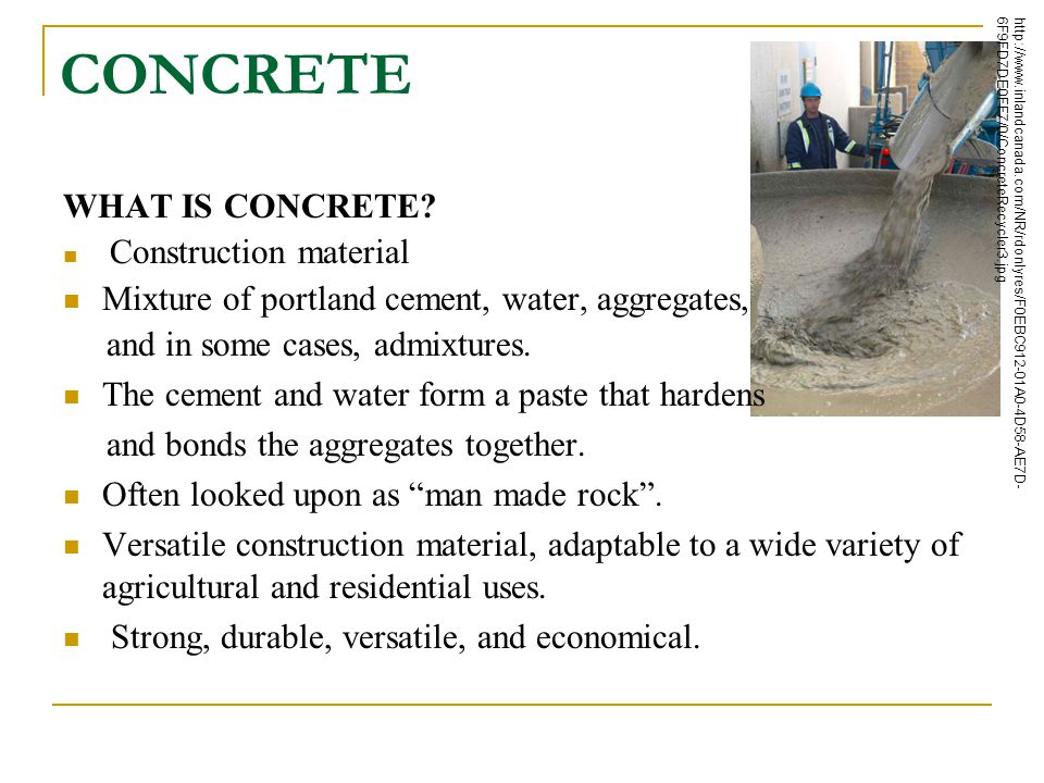 CONCRETE WHAT IS CONCRETE