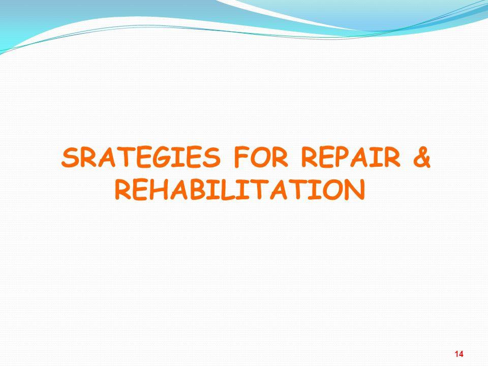 SRATEGIES FOR REPAIR & REHABILITATION