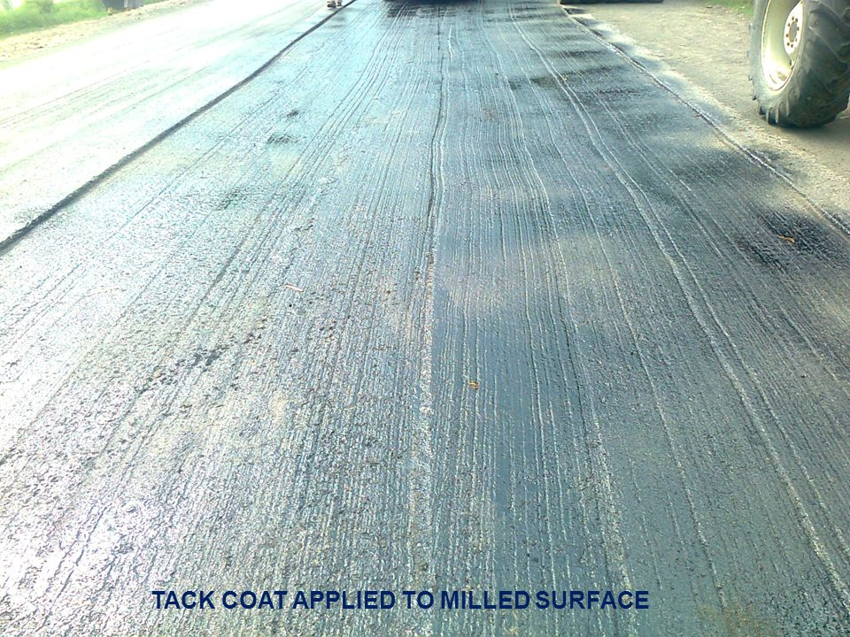 TACK COAT APPLIED TO MILLED SURFACE