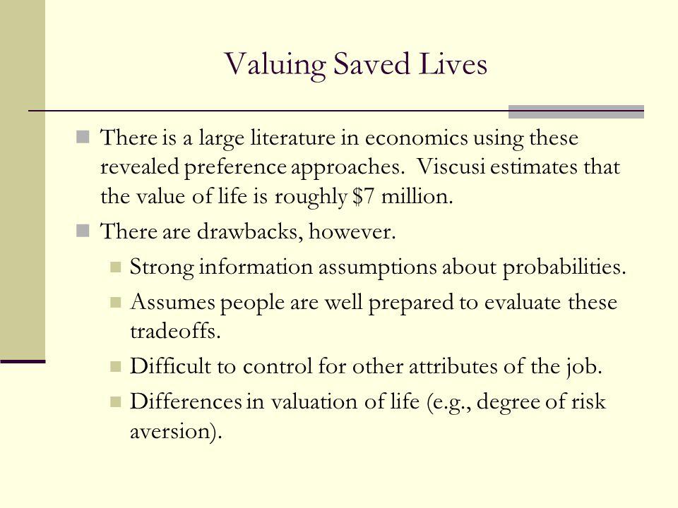 Valuing Saved Lives