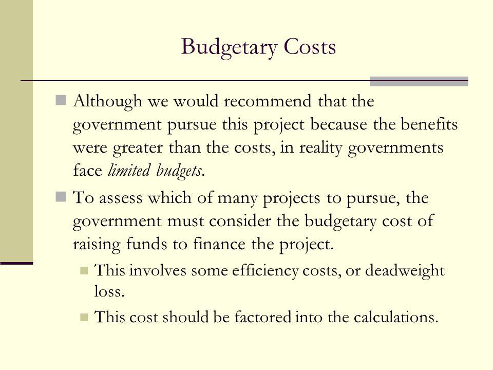 Budgetary Costs