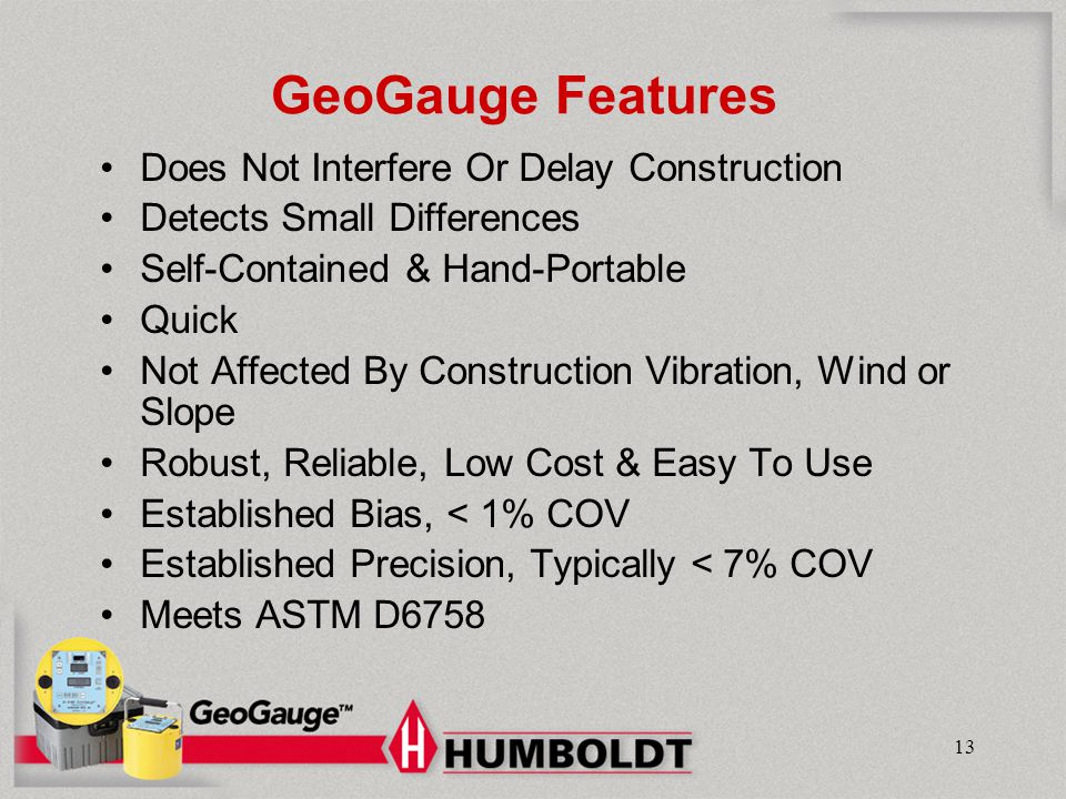 GeoGauge Features Does Not Interfere Or Delay Construction