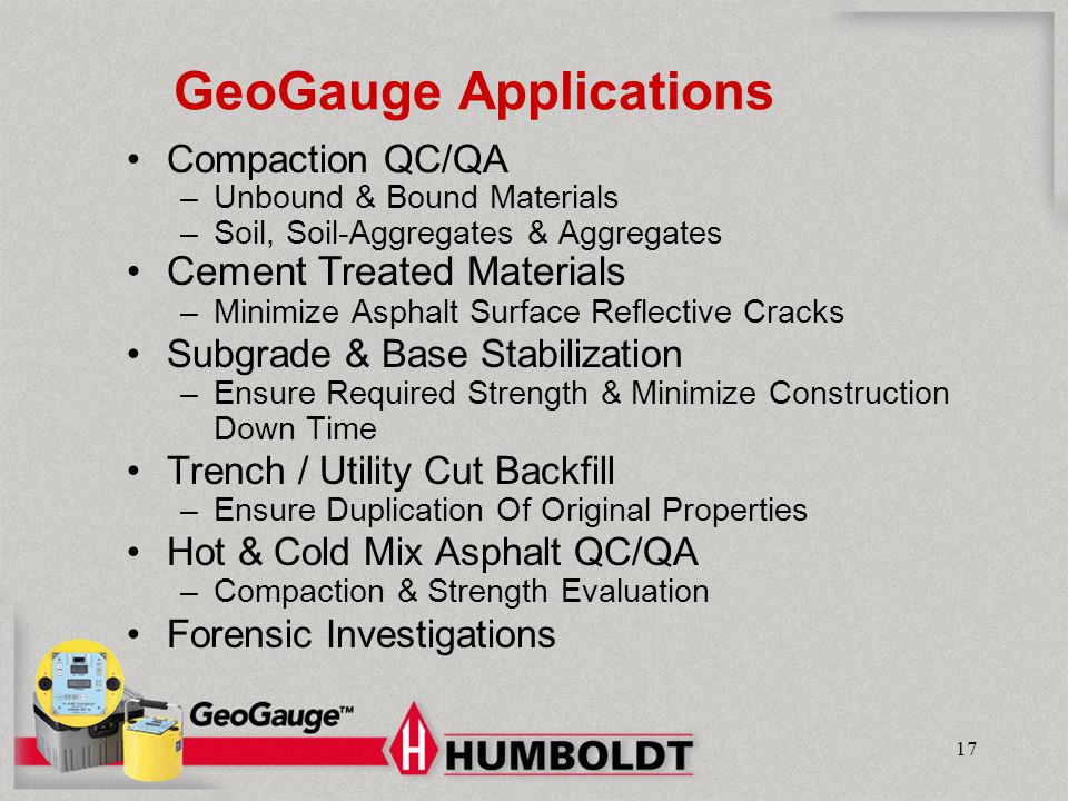 GeoGauge Applications