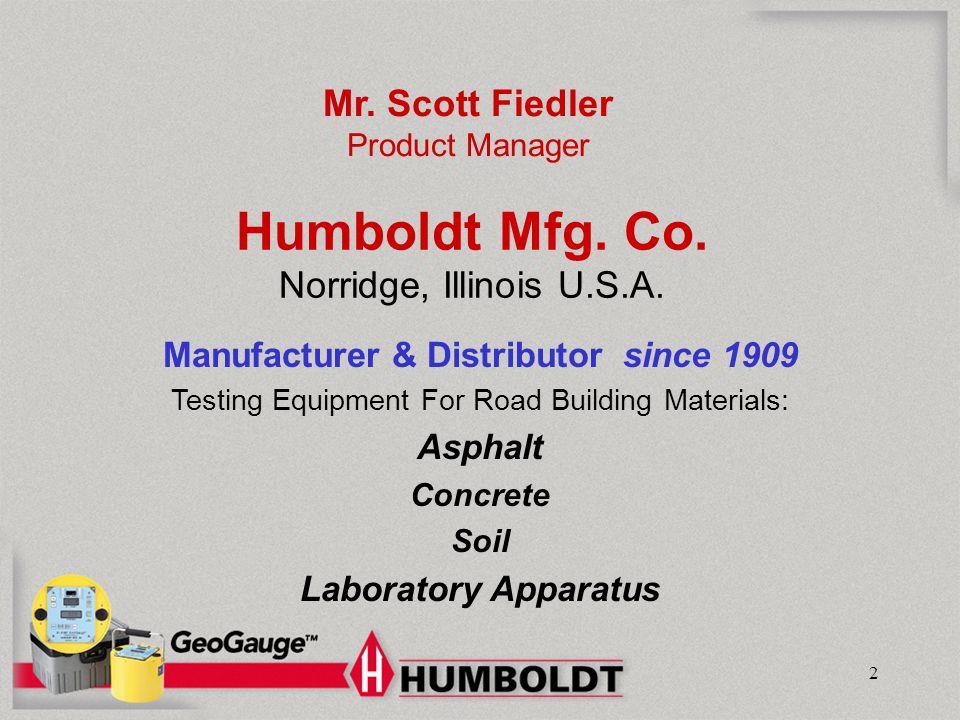 Humboldt Mfg. Co. Norridge, Illinois U.S.A.