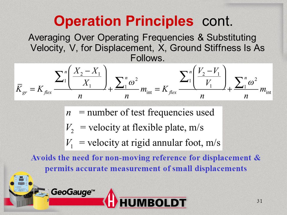Operation Principles cont.