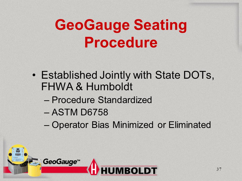 GeoGauge Seating Procedure