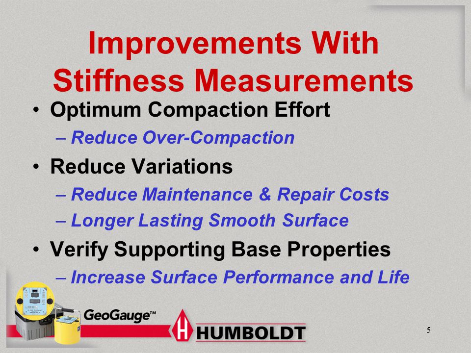 Improvements With Stiffness Measurements