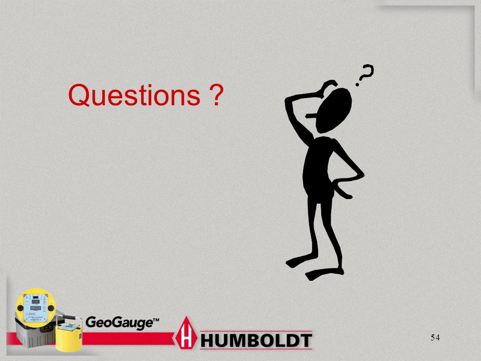 Humboldt Mfg. Co. Questions GeoGauge : Material Evaluation Today