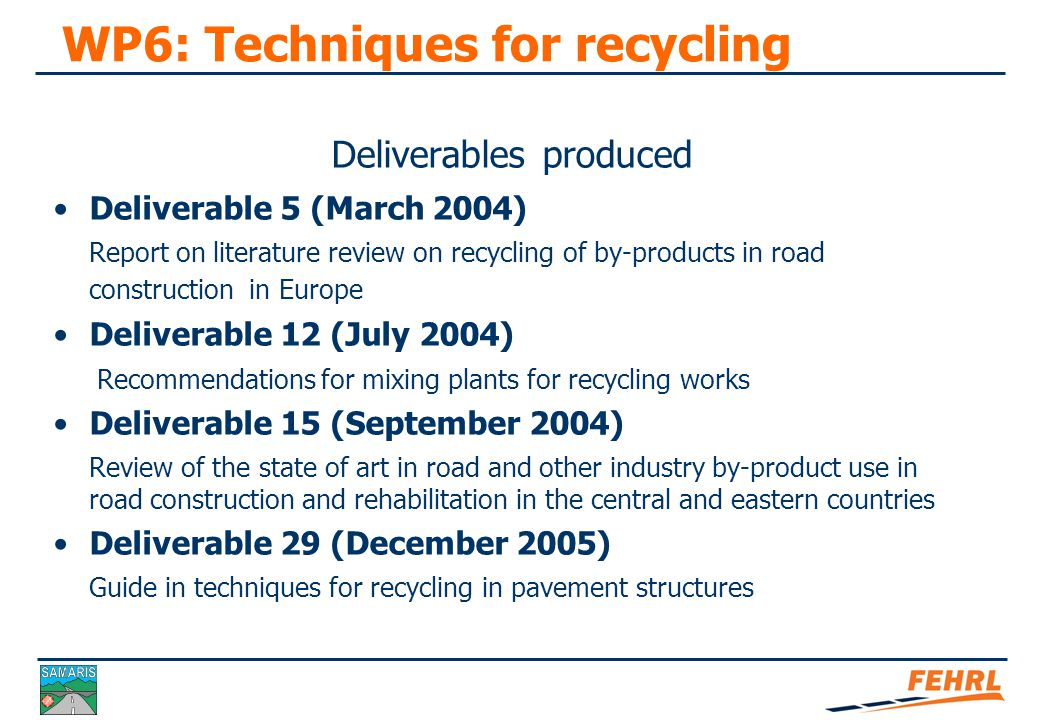 The guide on techniques for recycling in pavement structures