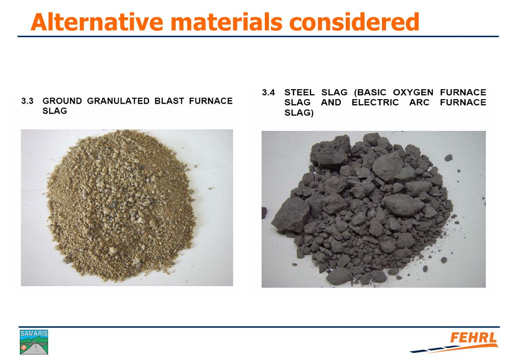 Alternative materials considered