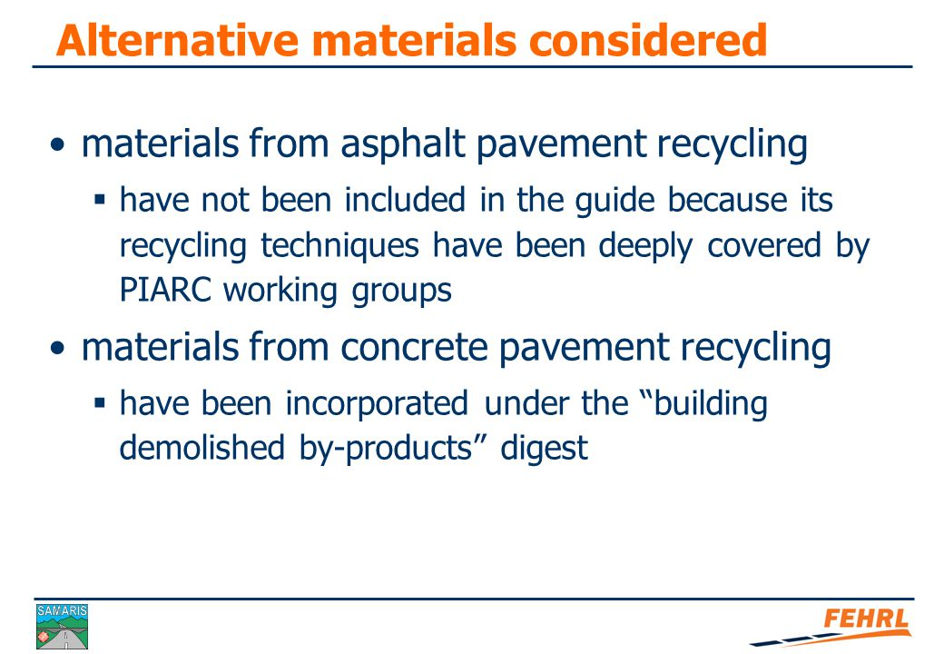 Structure of the guide Recycling