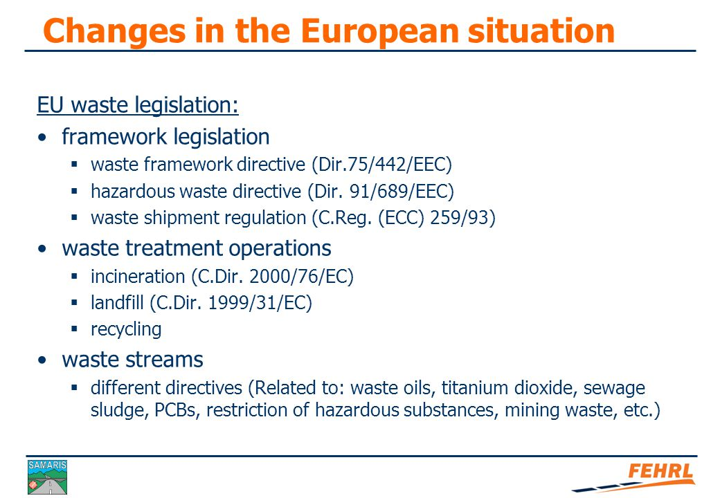 Changes in the European situation