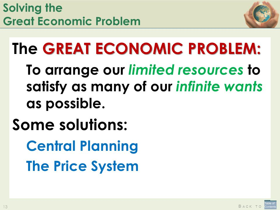 Solving the Great Economic Problem