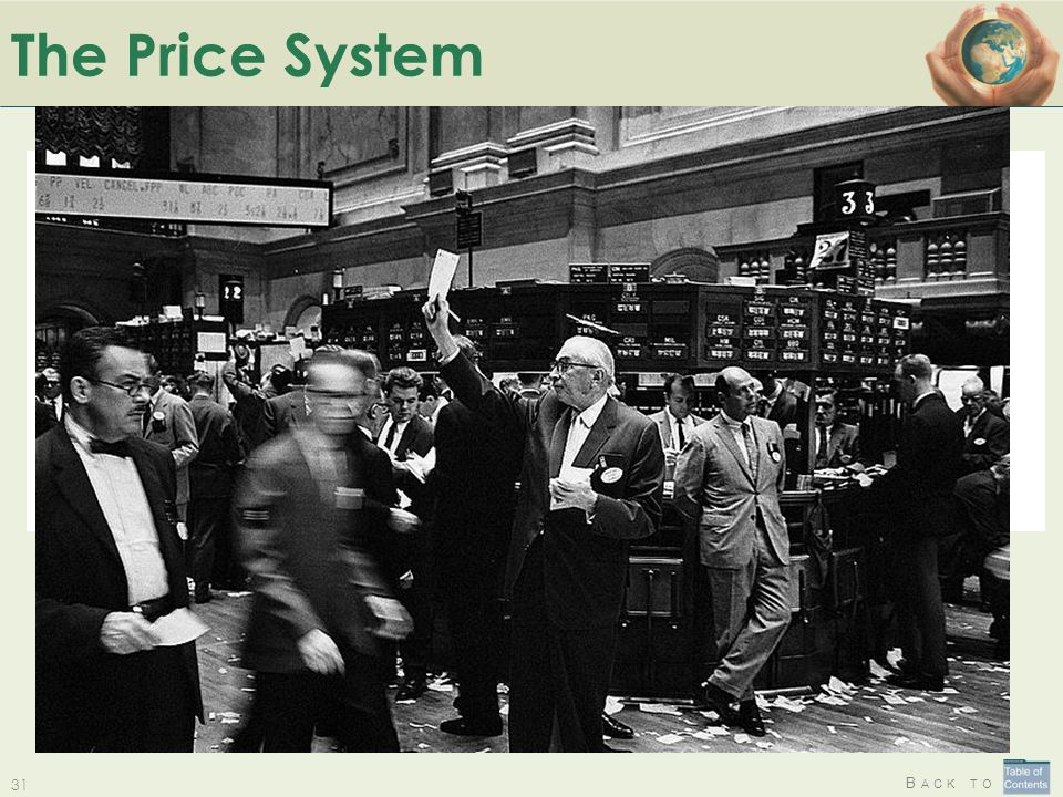 The Price System The Price System: a solution where no-one (or everyone!) is responsible for allocating limited resources.