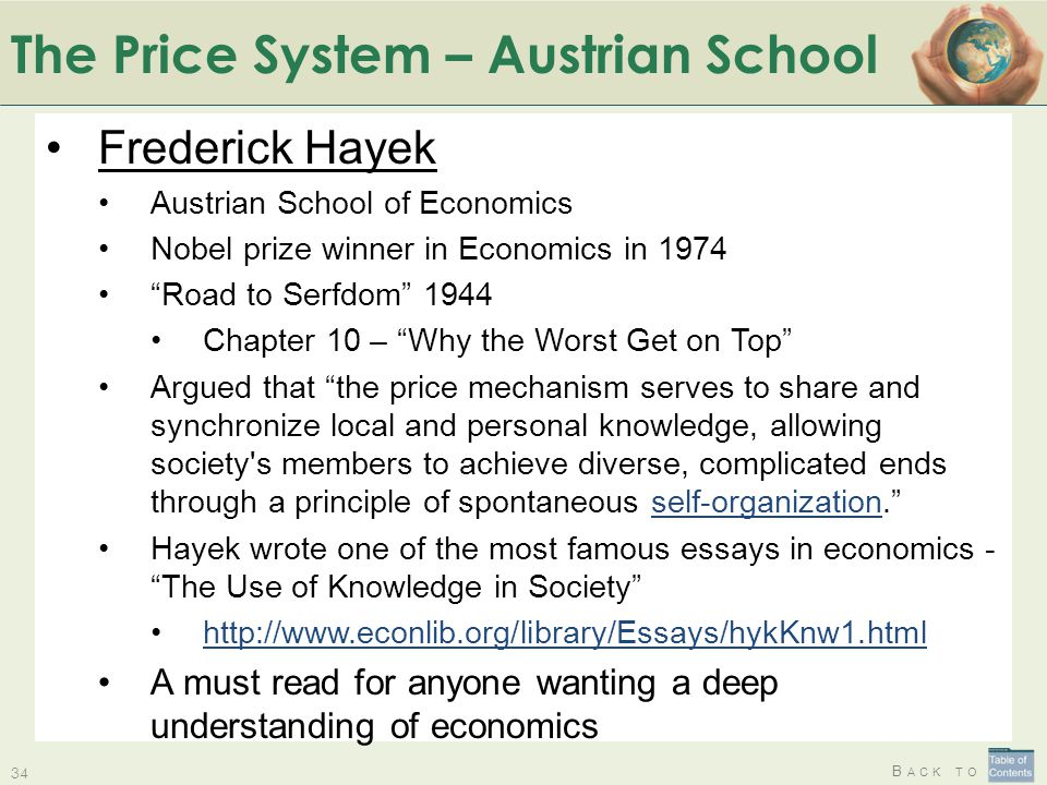 The Price System – Austrian School