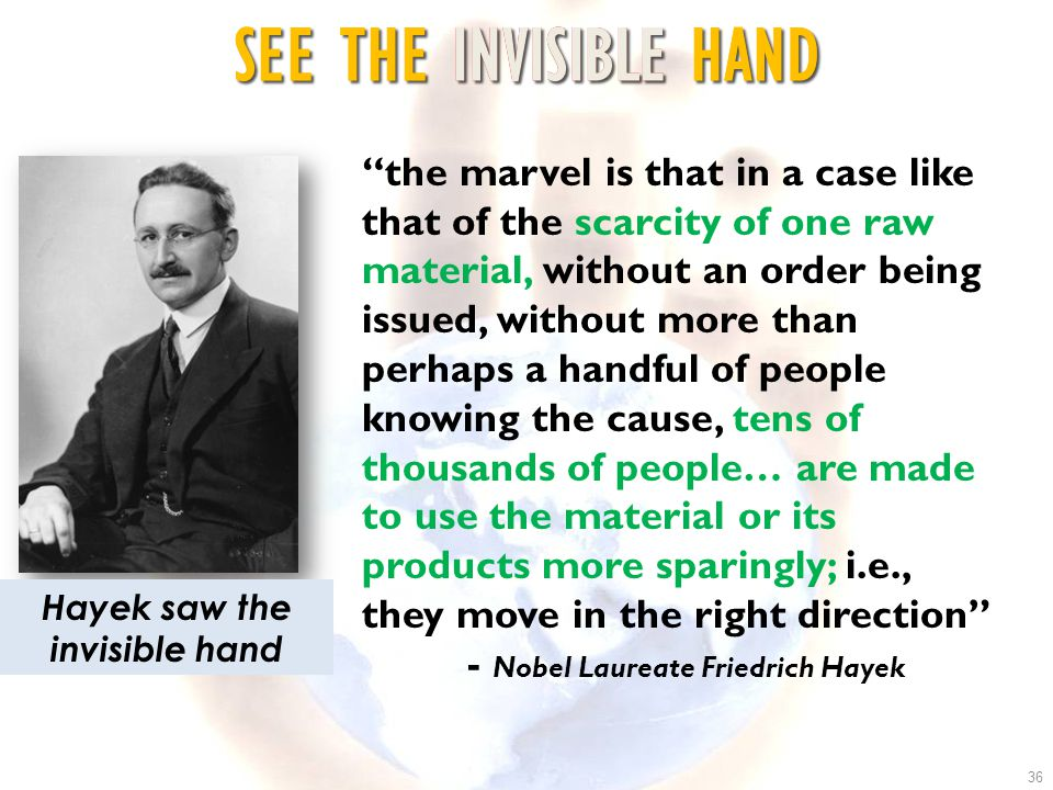 Hayek saw the invisible hand