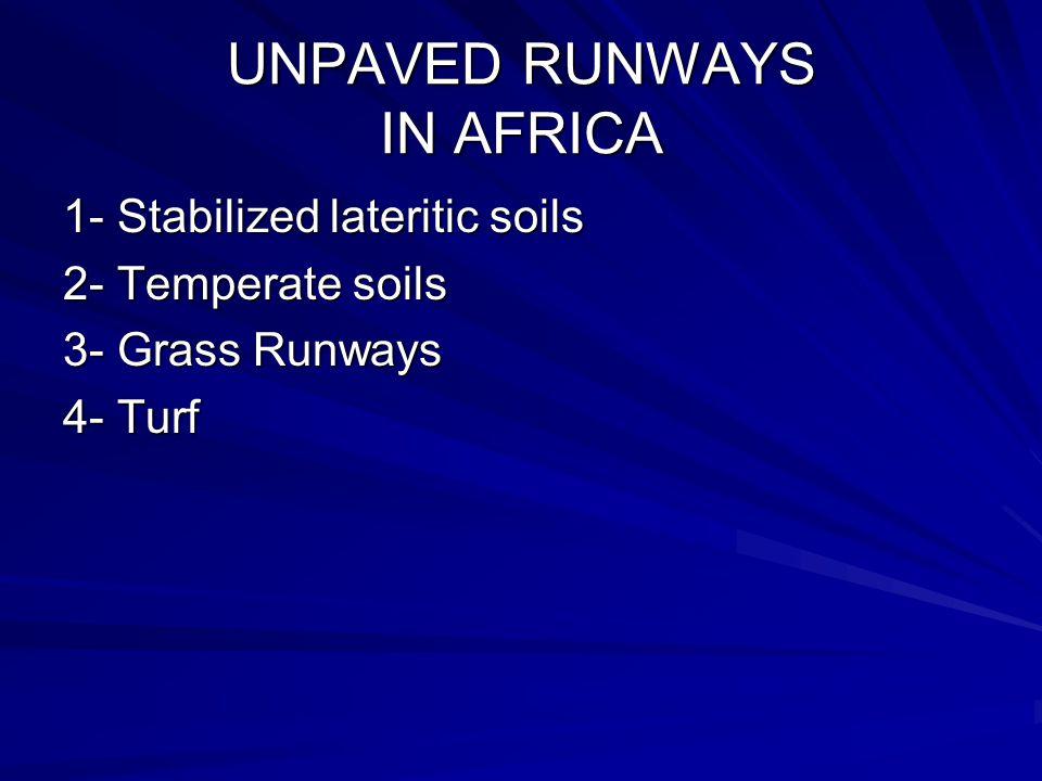 UNPAVED RUNWAYS IN AFRICA