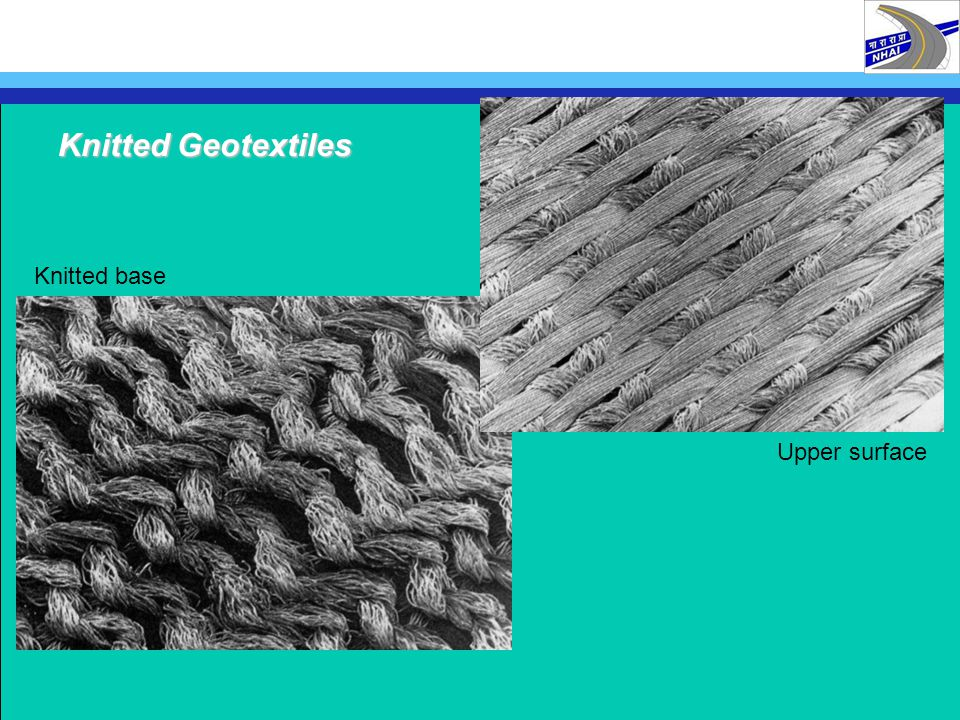 Knitted Geotextiles Knitted base Upper surface