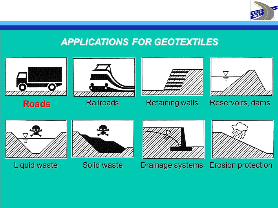 APPLICATIONS FOR GEOTEXTILES