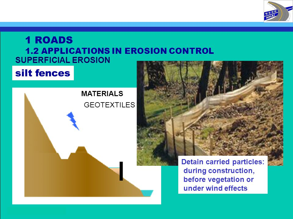 1 ROADS 1.2 APPLICATIONS IN EROSION CONTROL