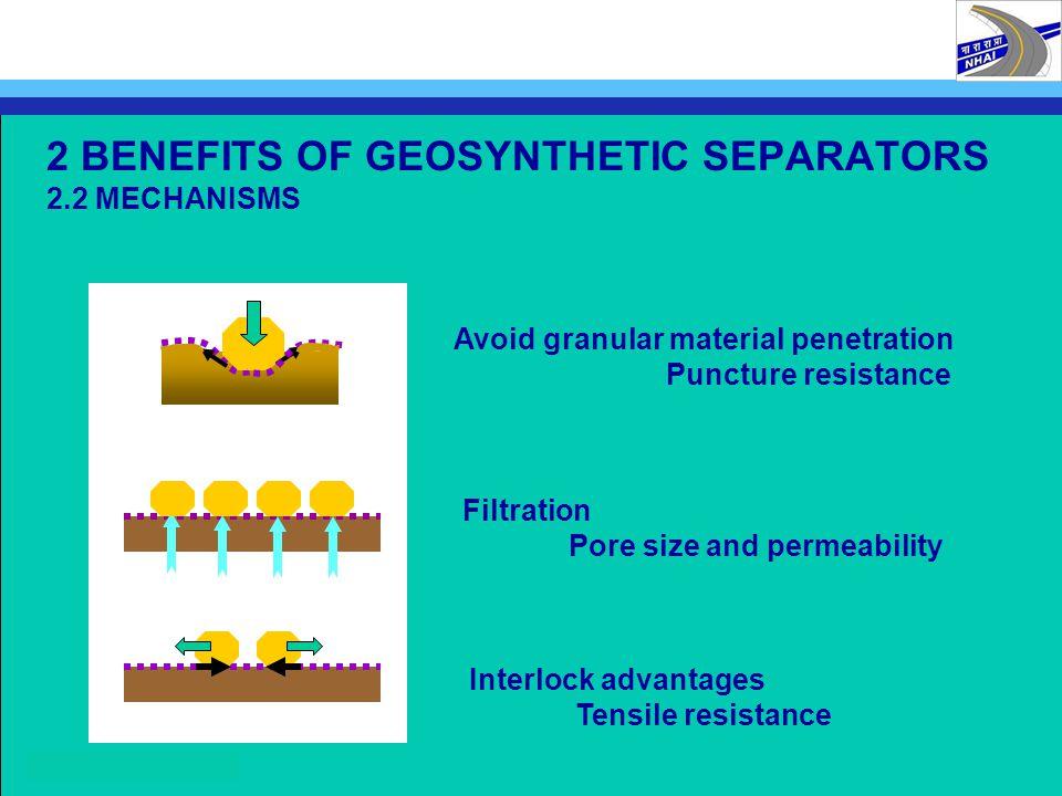 2 BENEFITS OF GEOSYNTHETIC SEPARATORS 2.2 MECHANISMS