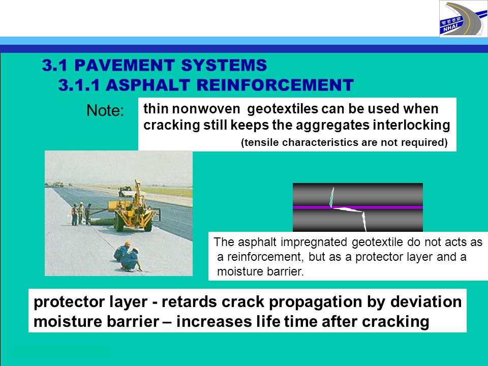 3.1 PAVEMENT SYSTEMS 3.1.1 ASPHALT REINFORCEMENT