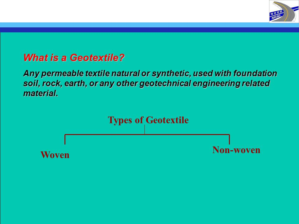 What is a Geotextile Types of Geotextile Non-woven Woven
