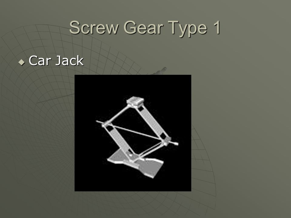 Screw Gear Type 1 Car Jack