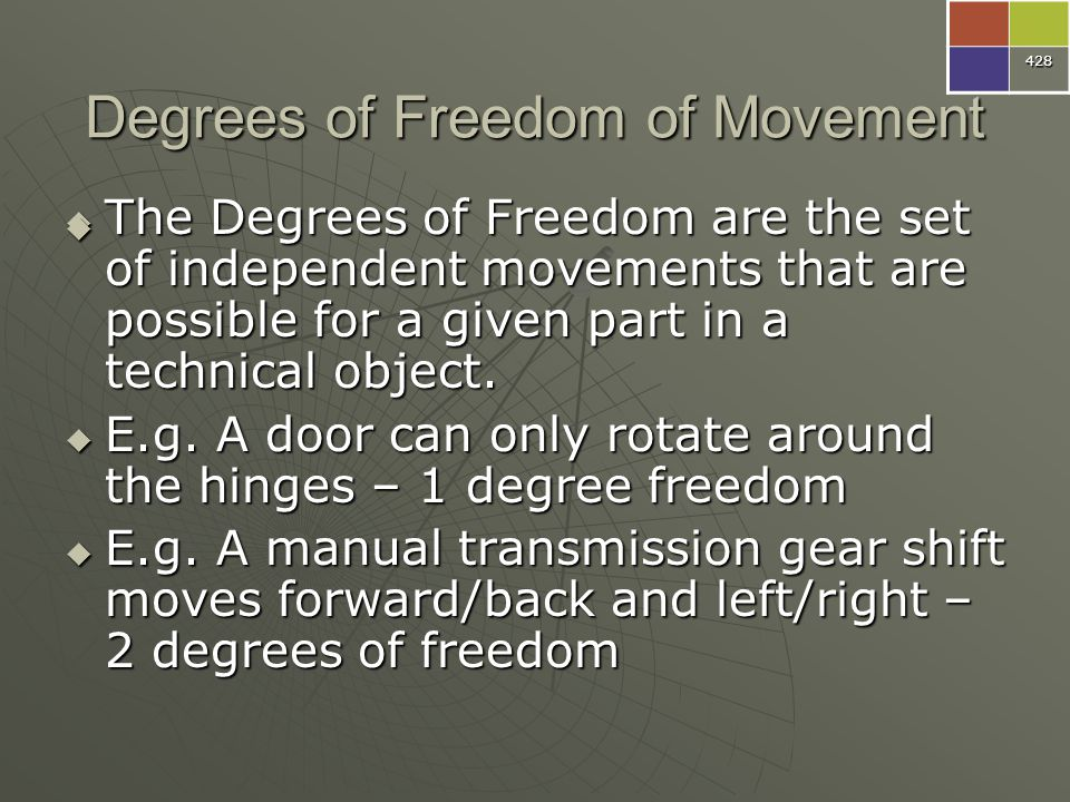 Degrees of Freedom of Movement