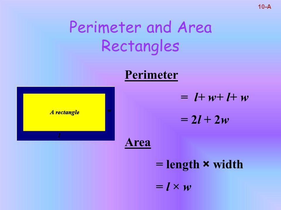 Perimeter and Area Rectangles