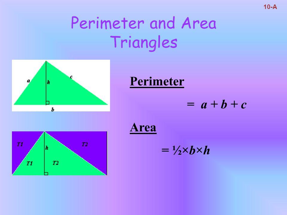Perimeter and Area Triangles