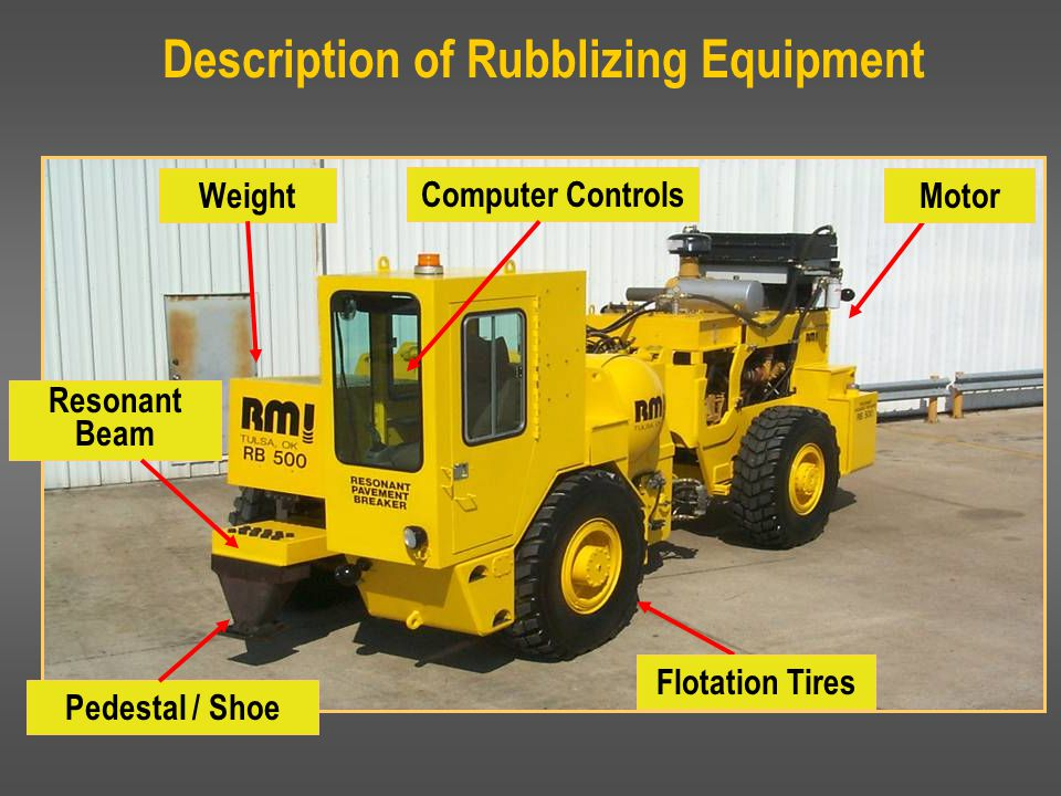 Description of Rubblizing Equipment