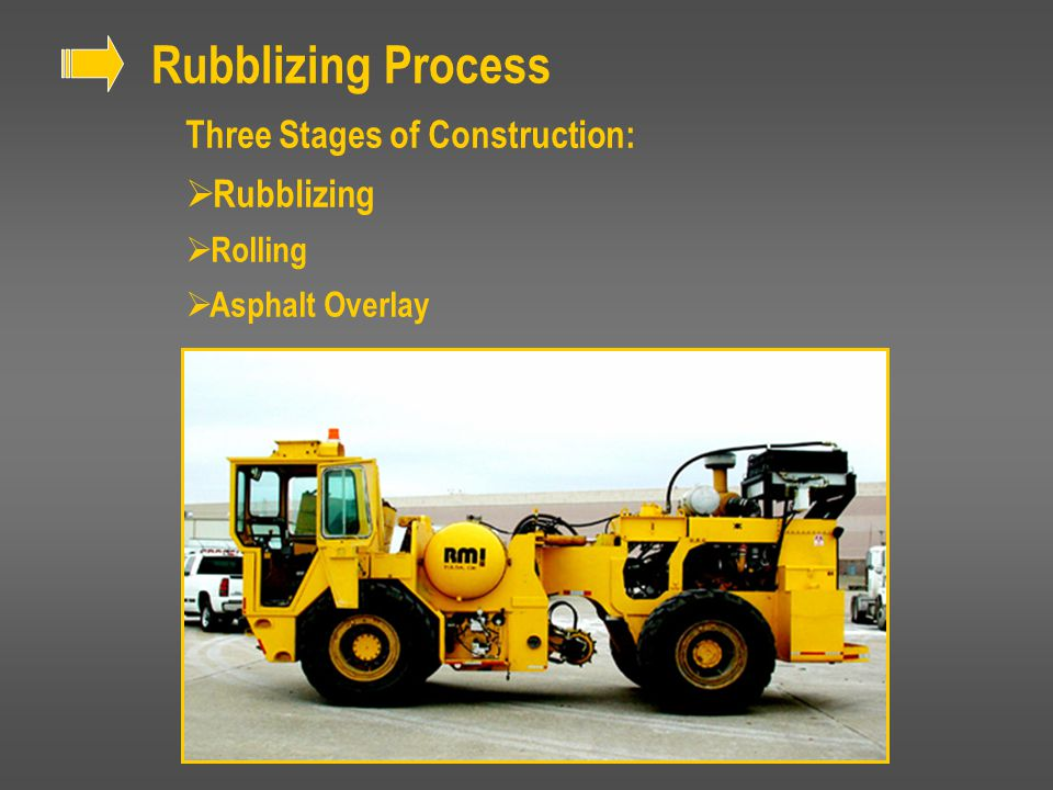 Rubblizing Process Three Stages of Construction: Rubblizing Rolling