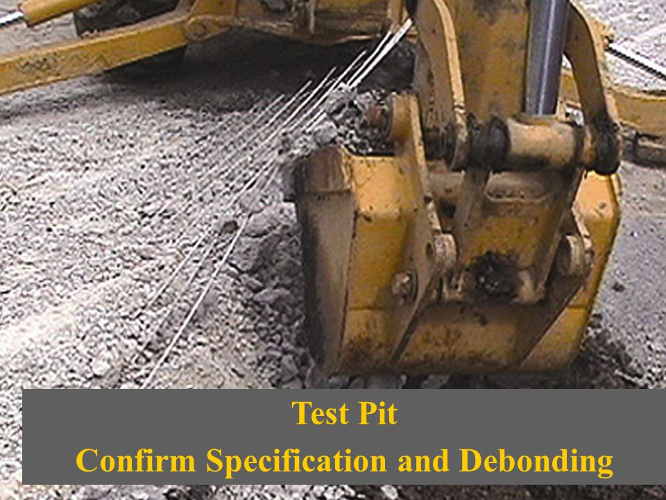Confirm Specification and Debonding