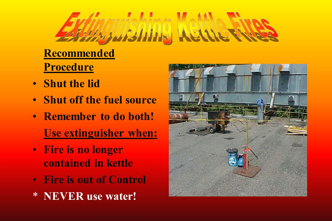 Extinguishing Kettle Fires