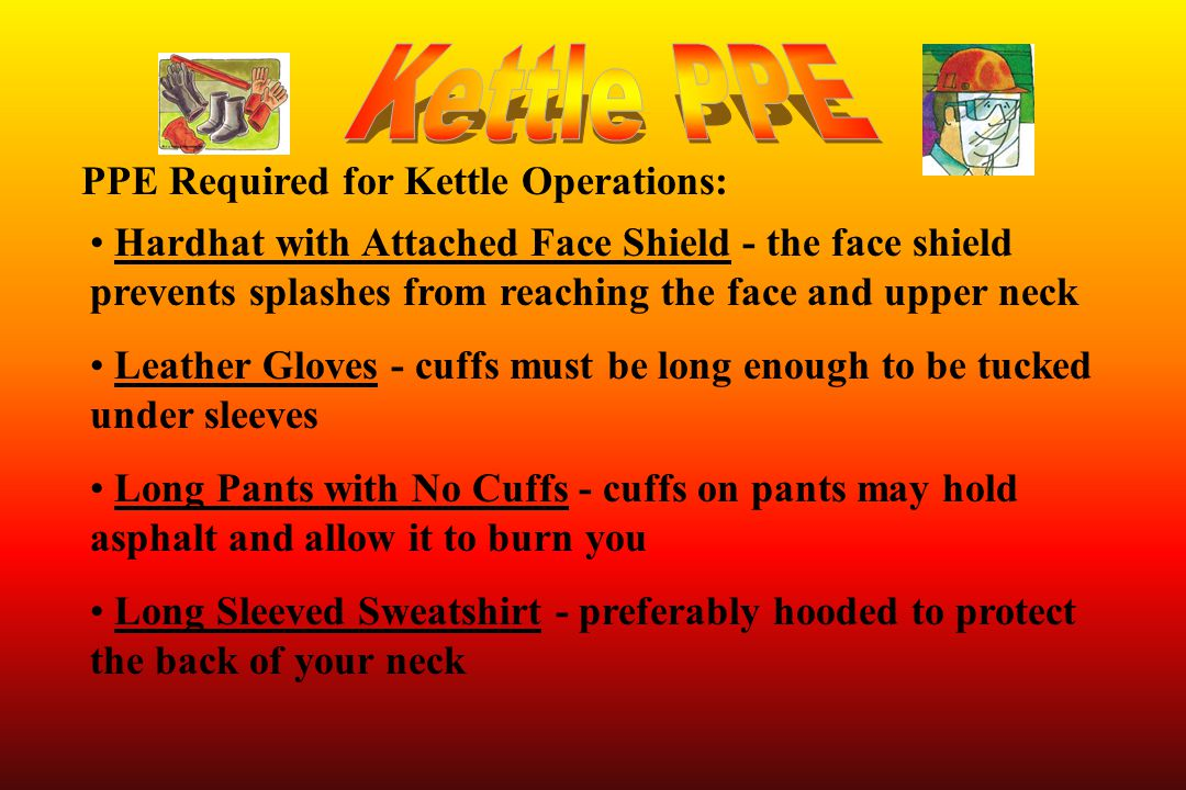 Kettle PPE PPE Required for Kettle Operations: