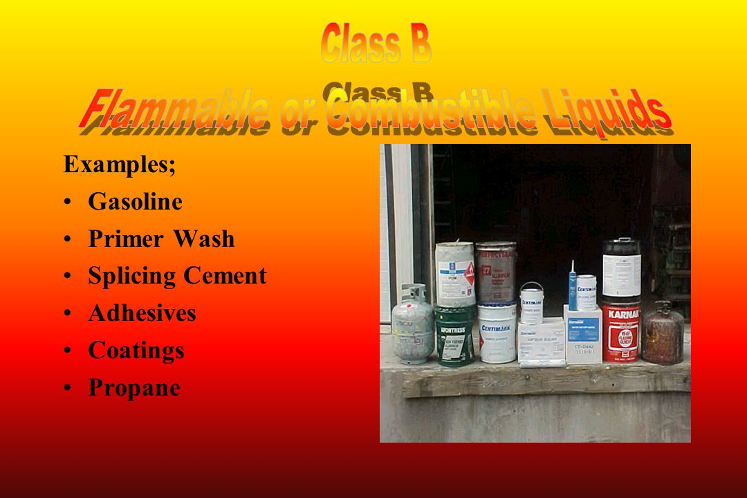 Flammable or Combustible Liquids