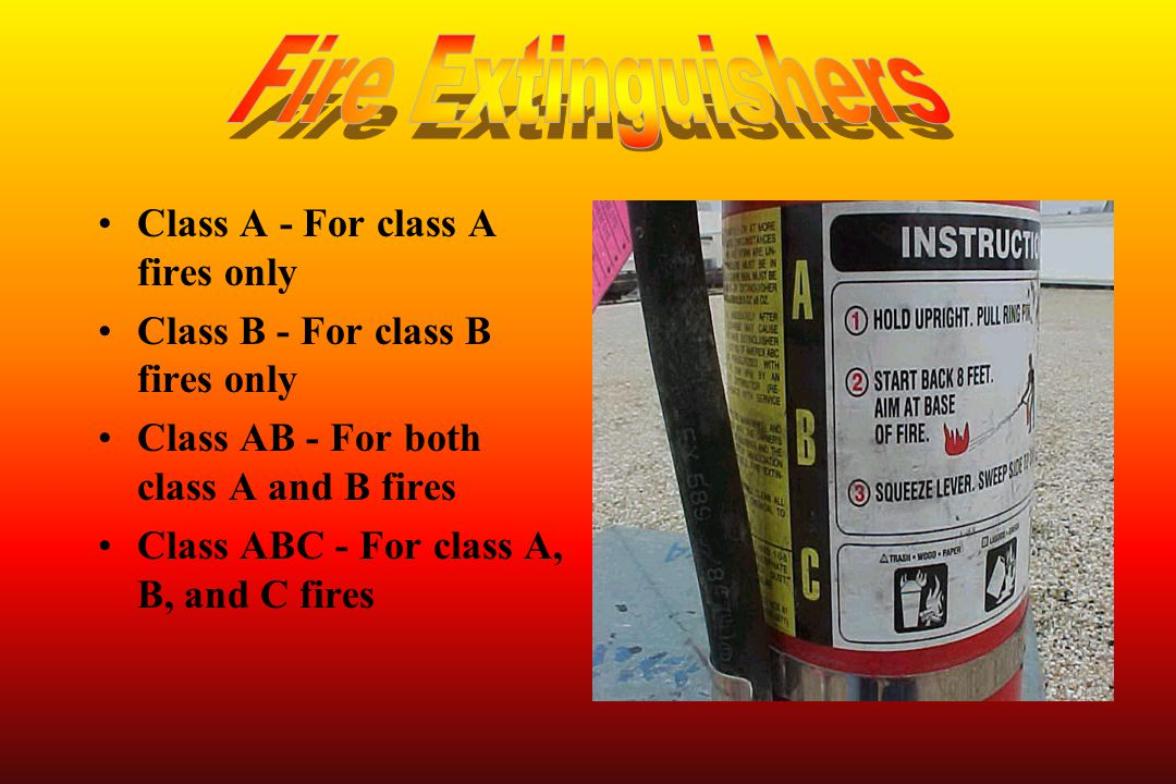 Fire Extinguishers Class A - For class A fires only