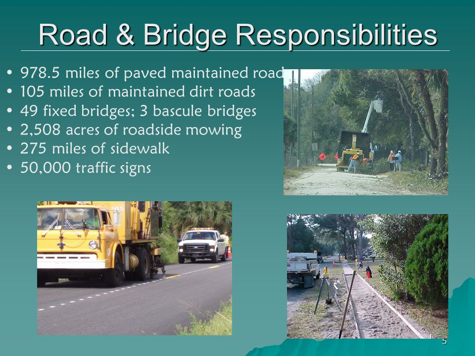 Road & Bridge Responsibilities