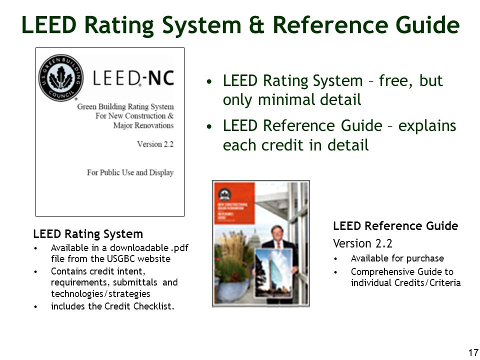 LEED Rating System & Reference Guide
