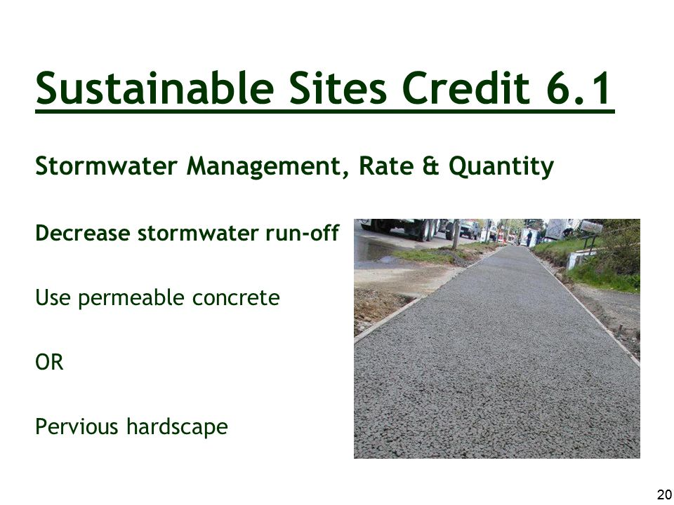 Sustainable Sites Credit 6.1