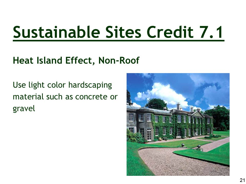 Sustainable Sites Credit 7.1