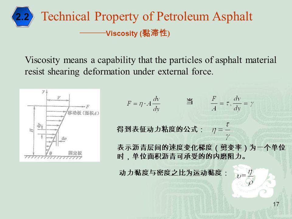 Technical Property of Petroleum Asphalt ——Viscosity (黏滞性)