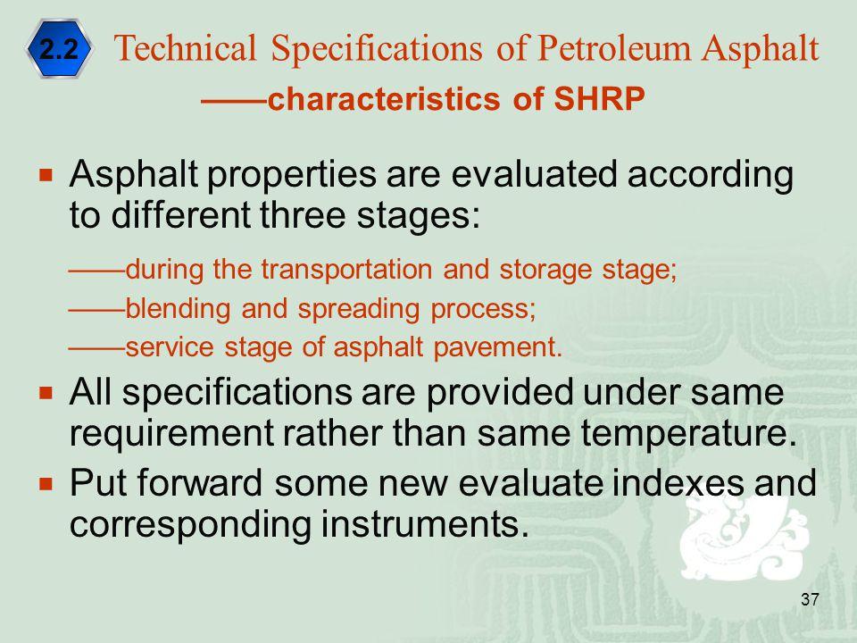 Technical Specifications of Petroleum Asphalt