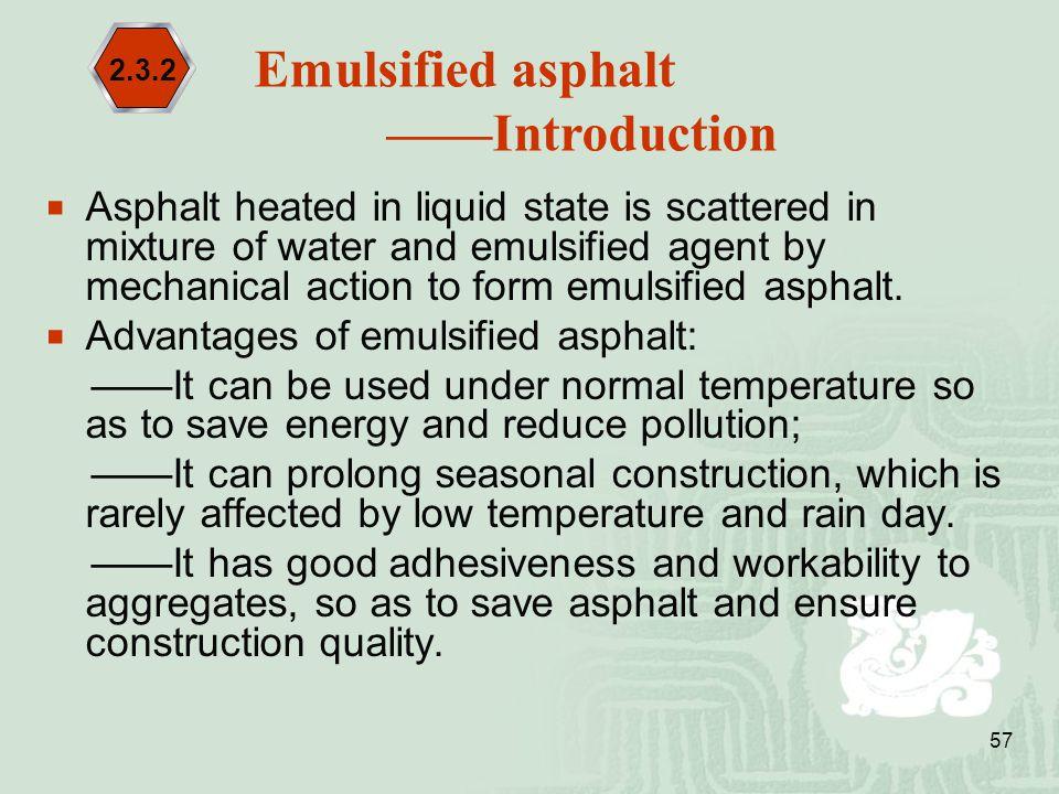 Emulsified asphalt ——Introduction