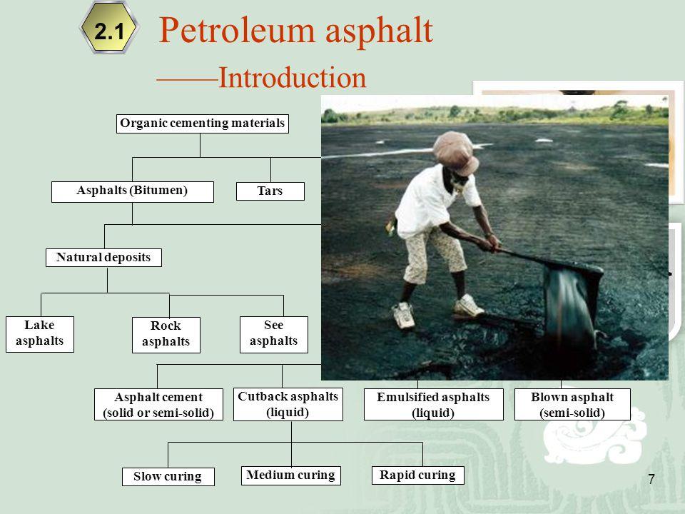 Organic cementing materials