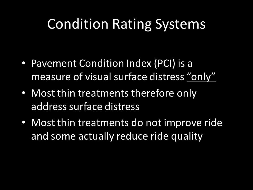 Condition Rating Systems