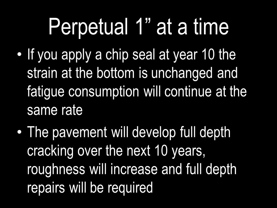 Perpetual 1 at a time
