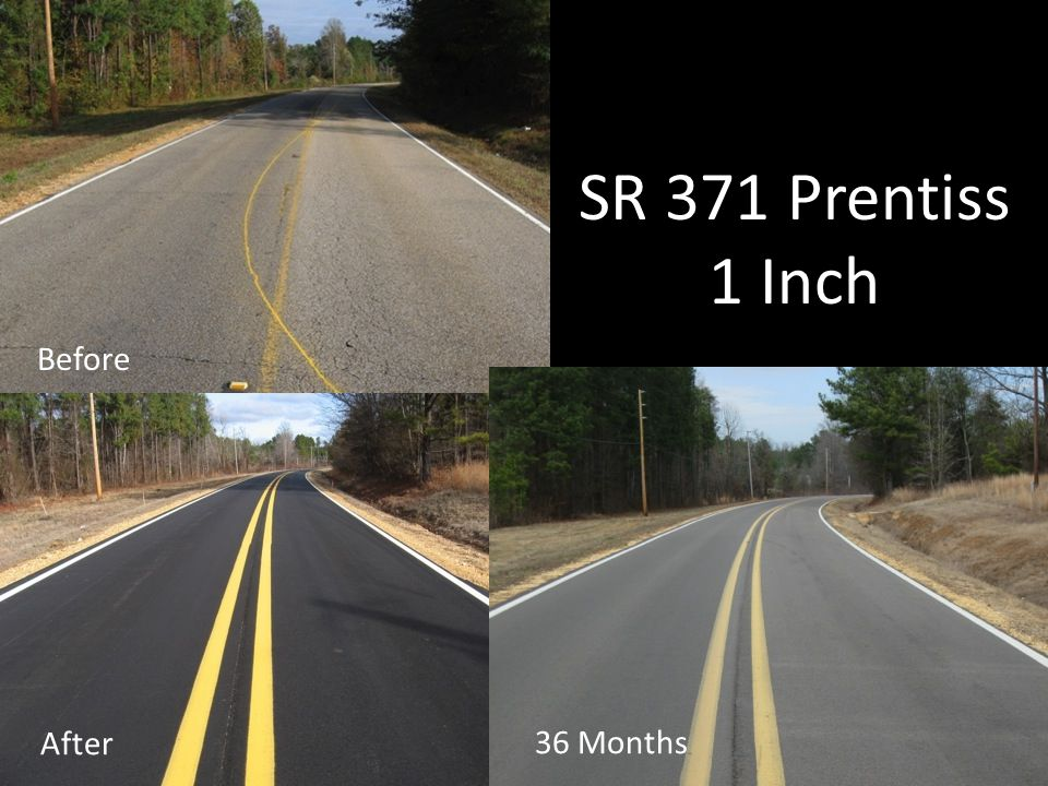 SR 371 Prentiss 1 Inch Before After 36 Months