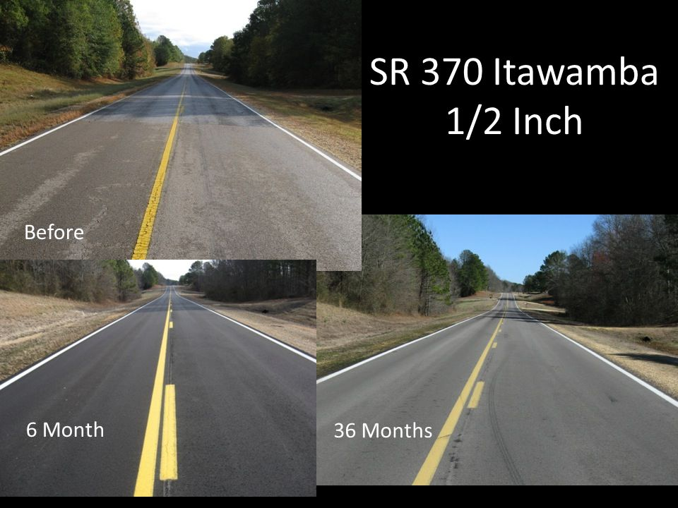 SR 370 Itawamba 1/2 Inch Before 6 Month 36 Months